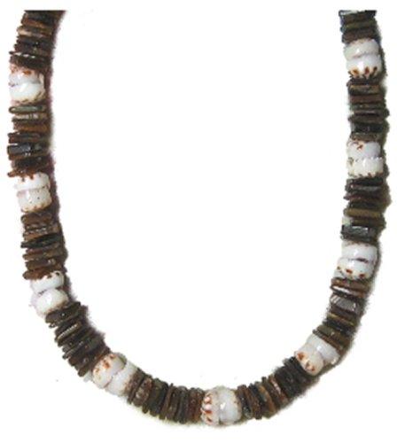 Native Treasure - Brown Chips Puka Shell Necklace Real Tiger Puka Shells (18)