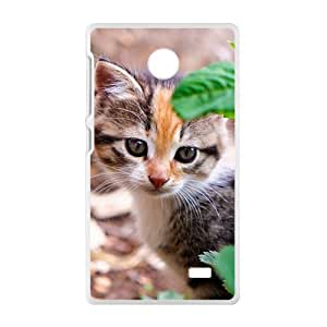 Cute Cat White Phone Case for Nokia Lumia X