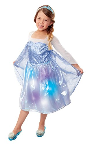 Fast Song Costumes (Frozen 30273 Northern Lights Elsa Musical Light Up Dress Costume)