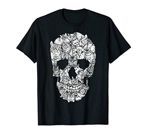 (Cat Skull Shirt Cat Lovers Shirt Kitty Skeleton Tee)