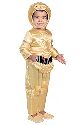 Princess Paradise Classic Star Wars Premium Toddler C-3Po Costume, Gold, 2T