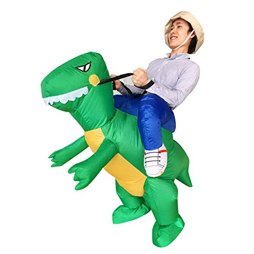 [Inflatable Ride Dinosaur T-Rex Adult Halloween Party Dress Suit Fancy Costume] (Halloween Ideas For Couples)