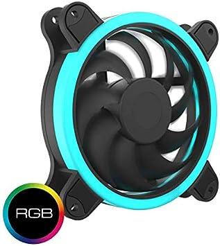 Hiditec | Ventilador Ultra Silencioso RGB con Luz Led para PC y ...