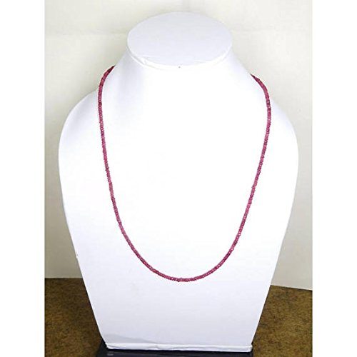 (Natural ruby sapphire 2.5 mm faceted precious gem stone 1 strand beaded 17-18
