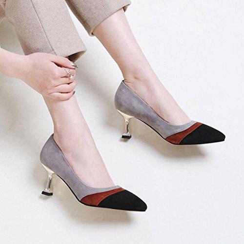 XUERUI Sra. Tacones Stilettos Zapatos De Princesa Graduación Trabajando Fiesta Young Tacón 6cm Zapatos de tacón (Color : 2, Tamaño : EU37/UK4.5-5/CN37) 1
