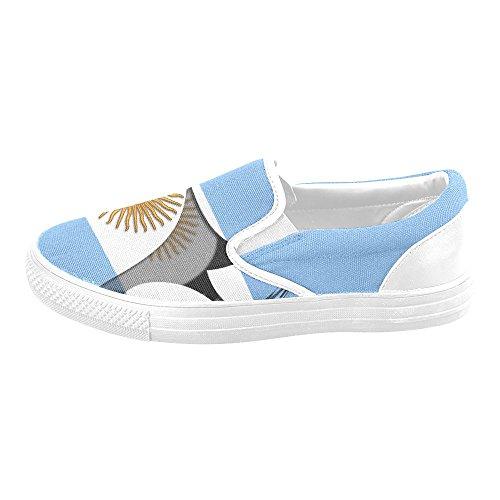 Interestprint Classique Le Drapeau Des Chaussures En Toile Slip-on De Largentine
