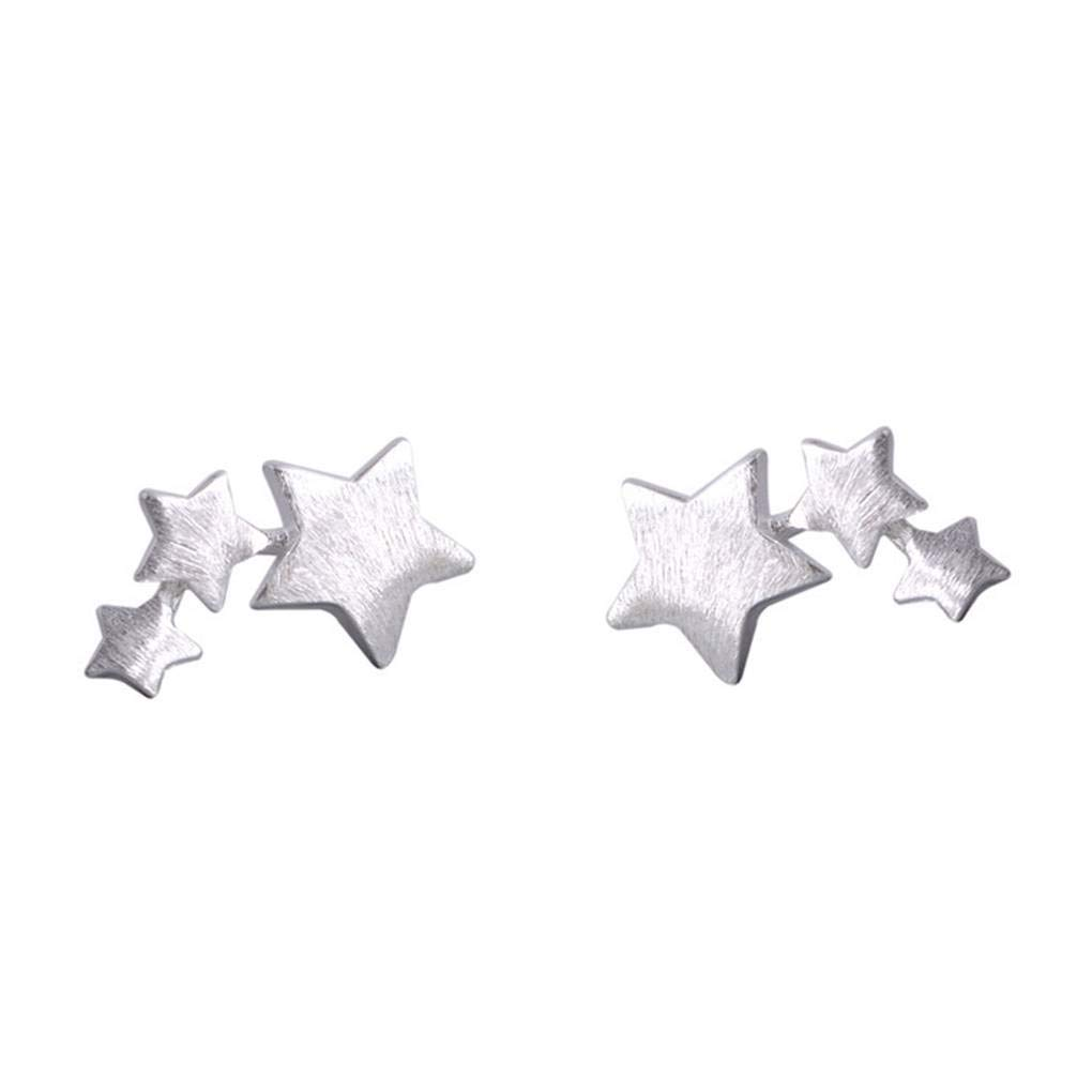 Beaums Women Girls S925 Silver Star Earring Stud Anti-Allergy Ear Pin Cute Ear Accessories Jewelry Gift