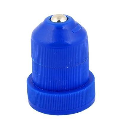 Amazon.com : DealMux plástico azul Cachorro Cão que bebe da fonte de água Feeder Bottle cabeça : Pet Supplies