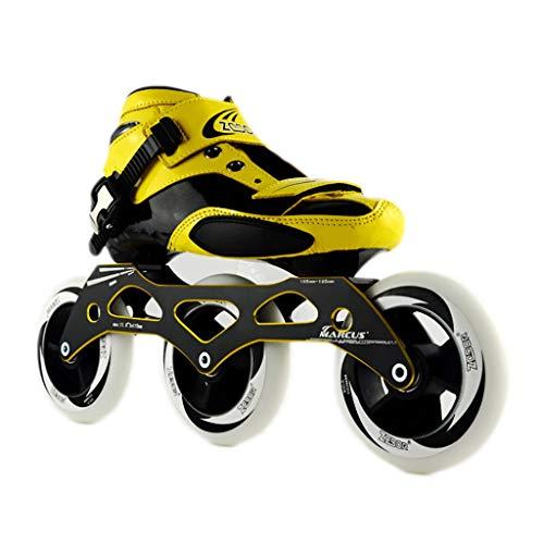 順応性棚無駄なNUBAOgy インラインスケート、90-110ミリメートル直径の高弾性PU車輪、子供のための調整可能なインラインスケート、2色で利用可能 (色 : 白, サイズ さいず : 45)