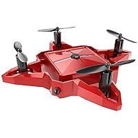 KXN S11 Mini Quadcopter Drone 2.4G 4CH Altitude Hold HD Camera WIFI FPV RC Foldable (Red)
