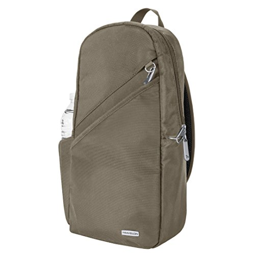 Travelon Anti-theft Classic Sling Bag, Nutmeg by Travelon