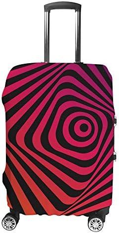 スーツケースカバー トラベルケース 荷物カバー 弾性素材 傷を防ぐ ほこりや汚れを防ぐ 個性 出張 男性と女性モーションエフェクトと抽象的な背景