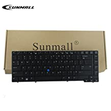 SUNMALL Original Keyboard Replacement with POINTER for HP EliteBook 8440p 8440w series Black US Laptop Compatible with Part Number 594052-001 598042-001
