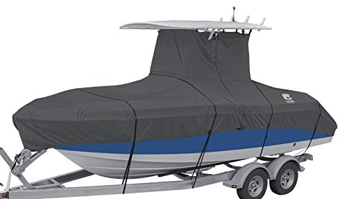 "Classic Accessories StormPro Heavy-Duty Center Console T-Top Roof Boat Cover, 17'-19' Long, Up to 102"" W"