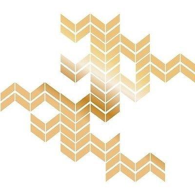 Amazon.com: Wall Decals Metallic Gold Chevron Self-Adhesive Wall ...