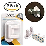 Door Lever Lock (2 Pack) Child Proof Doors & Handles 3M Adhesive - Child Safety by Kommonspace