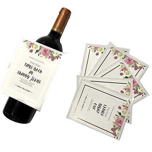 Waterproof Mommy First Milestone Label Stickers Set First Moment Decoration Tags Hot Stamp Rose Gold Color 750ml Wine Gift Baskets