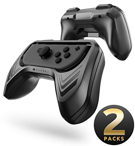 Mumba Grip Kit for Nintendo Switch Joy-Con Controllers - Black (2 Packs)