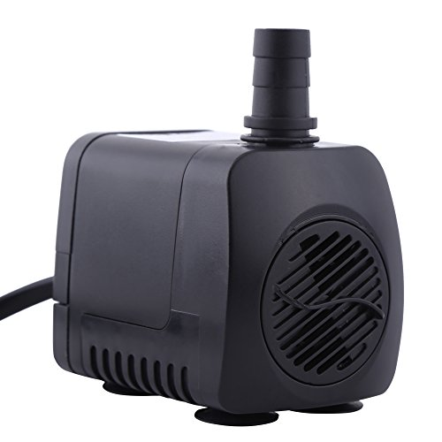 Submersible Water Pump ,220V 15W 800L/H Fountain Air Fish Tank Aquarium Water Plastic Submersible Pump by Fdit