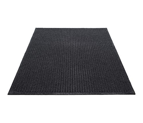 Guardian EcoGuard Indoor Wiper Floor Mat, Recycled Plastic and Rubber, 3' x 5', Charcoal (Renewed)
