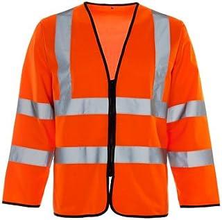 SuperTouch, zip gilet alta visibilità 32685a maniche lunghe, taglia XXL, arancione