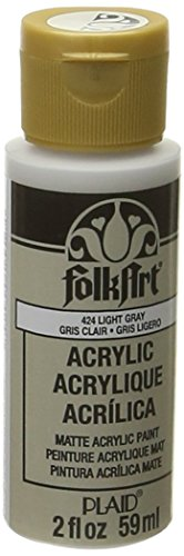 FolkArt Acrylic Paint in Assorted Colors (2 oz), 424, Light Gray ()