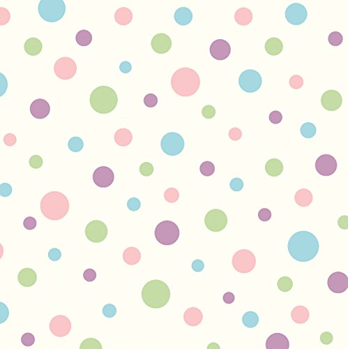Chesapeake BBC95632 Dotty Polka Dot Toss Wallpaper, Purple