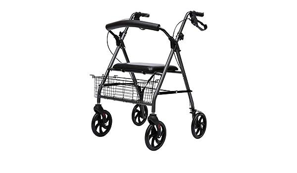 ZXXX Andador con Ruedas y Asientos, Andador para Ancianos ...
