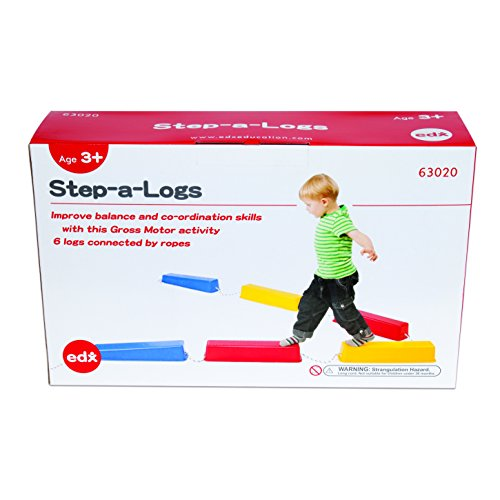 edx Education StepaLogs  Balance Beam for Kids  Indoor and Outdoor  Stackable  Build Coordination