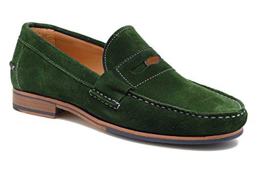 Verde Zapatos hombre para cordones de 11sunshop wgqx4Rvx