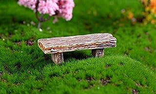 YLLY Miniature Chaise Mini Tabouret DIY Banc de résine Micro Jardin Paysage Décorations Crafts (Beige)