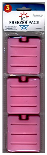 Lunch Chiller (Pink Small Ice Freezer Pack Set of 3 Reusable Size 3