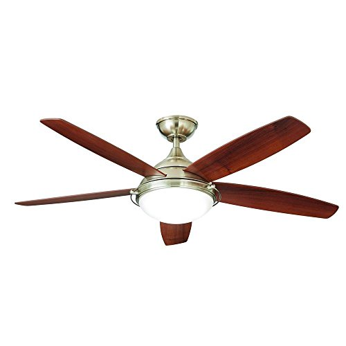 Home Decorators Collection Gramercy 52 in. LED Brushed Nickel Ceiling Fan