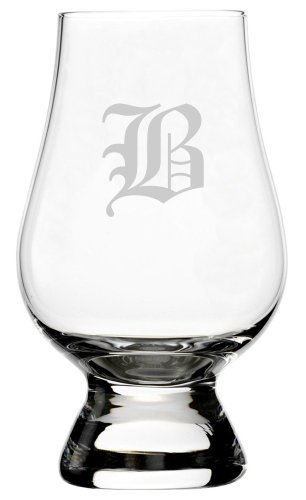Etched Crystal Bell (Old English Etched Monogram Glencairn Crystal Whisky Glass (Letter B))