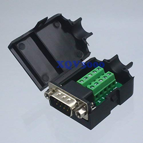 S-video Db9 - Davitu Connector DB9 D-SUB VGA male nut Terminal breakout Plastic Cover Data RS232
