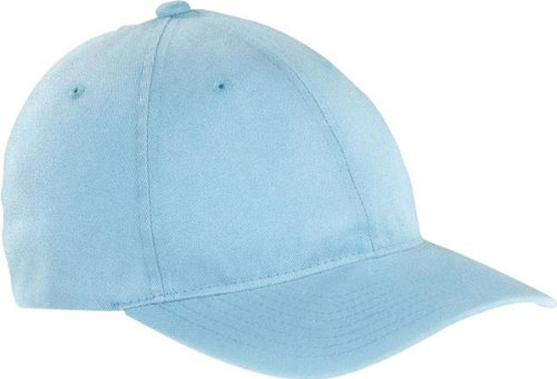 - Yupoong Flexfit Garment Washed 6-Panel Cotton Twill Cap, LIGHT BLUE, L / XL