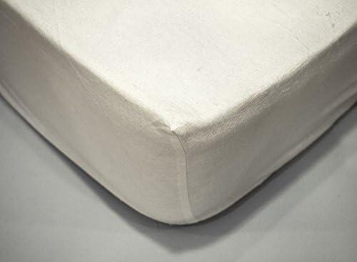 Sabana bajera BLANCA, ajustable, de FRANELA, algodón 100%, cama ...