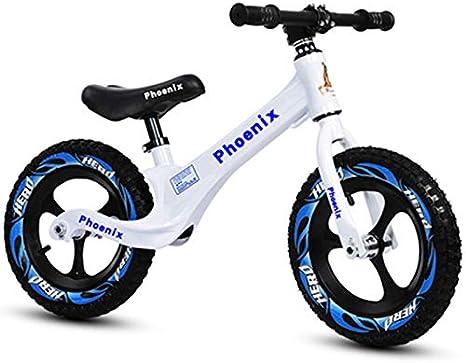 QunWang Bicicleta De Equilibrio para Niños Bicicleta De Entrenamiento 2-6 Años Bicicleta De Equilibrio para Niños White-OneSize: Amazon.es: Hogar