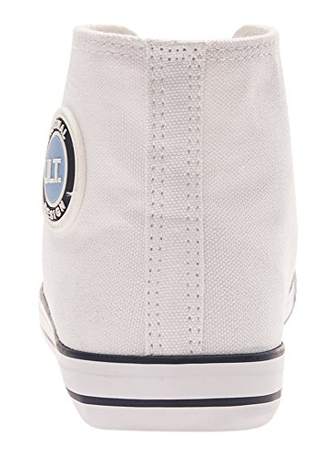 oodji Ultra Mujer Zapatillas de Algodón Altas Blanco (1000N)