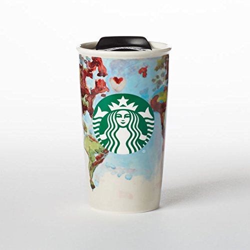 Starbucks Double Wall Ceramic Globe Traveler - 12 Fl Oz (11053048) by Starbucks
