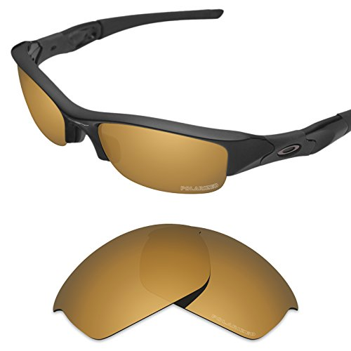 Tintart Performance Replacement Lenses for Oakley Flak Jacket Sunglass Polarized Etched-Tungsten Gold by Tintart