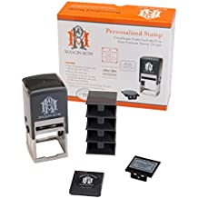 Mason Row MX-14637 Personalized Custom Self-Inking Designer Certificate Stamp Set