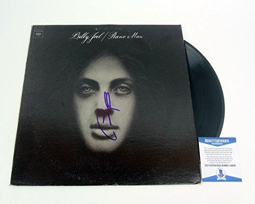 Billy Joel The Piano Man Signed Autograph Piano Man Vinyl Record Album Beckett BAS COA