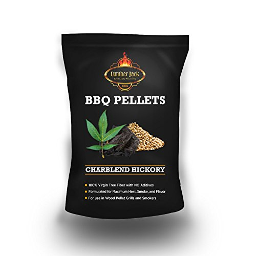 Lumber Jack LJACK-Hick-Charcoal-20 20-pounds BBQ Grilling Wood pellets-Hickory and Charcoal, Brown by Lumber Jack