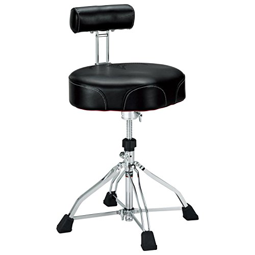 Tama 1st Chair Ergo-Rider Drum Throne with Backrest Black