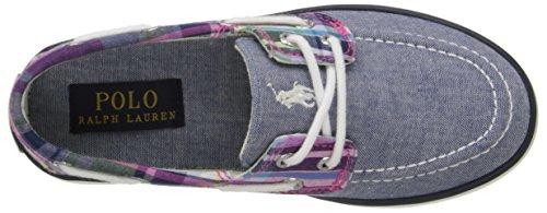 Polo Ralph Lauren Bambini Sander Fashion Sneaker (bambino / Ragazzino / Grande Bambino) Blu / Rosa Multi Plaid