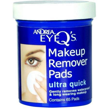 Andrea EyeQs Oil Free Makeup Remover Pads, Ultra Quick - 65 Ea