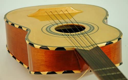 New Lucida Mexican Mariachi Lg-Vh1 Classic Rounded Back Vihuela w Case