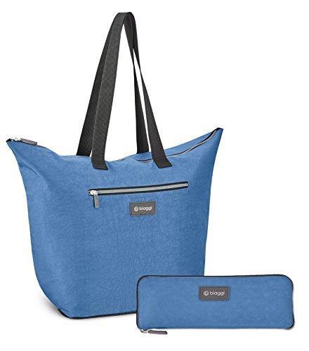 Biaggi ZipSak micro-fold Shopper Tote Azul Del Invierno