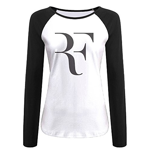 Creamfly Womens Roger Federer Long Sleeve Raglan Baseball Tshirt XL